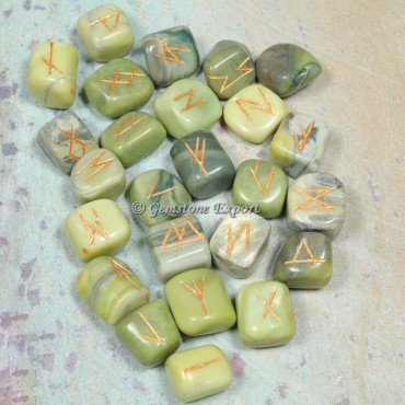 Serpentine Rune Divination Set