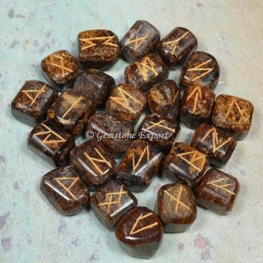 Bronzite Rune Divination Set