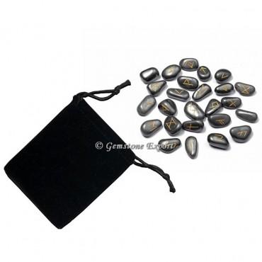Hematite Stone Rune Set