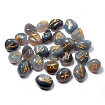 Grey Agate Rune Set