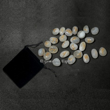 White Onyx Rune Set