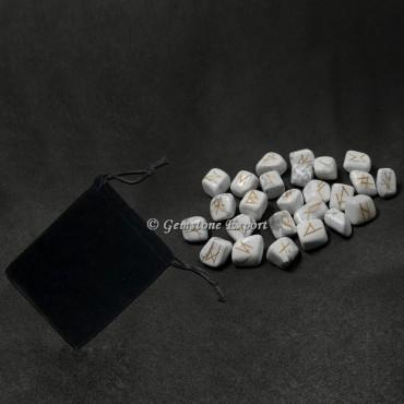 Howlite Rune Set