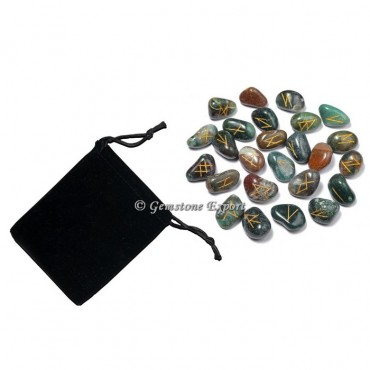 Fancy Agate Rune Set