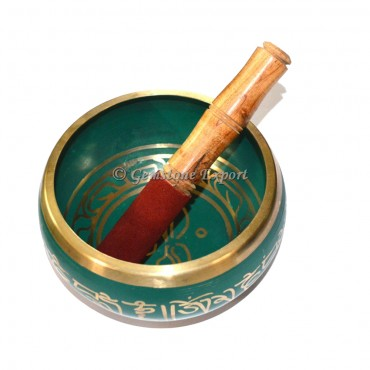 Green Color Singing Bowl 4 Inches