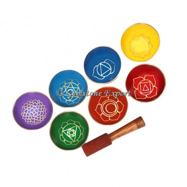 Seven Chakra Singing Bowl Set 3 Inches