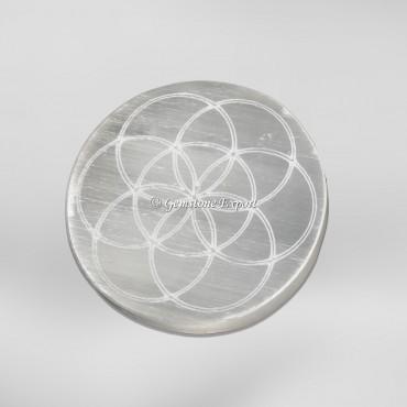 Seed of life Selenite Circle