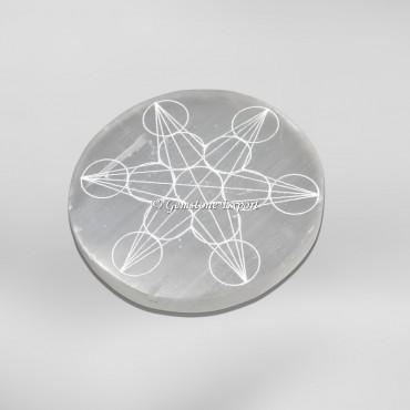 Geometry Metraton Selenite Chargindg Circle