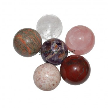 Mix Gemstone Spheres