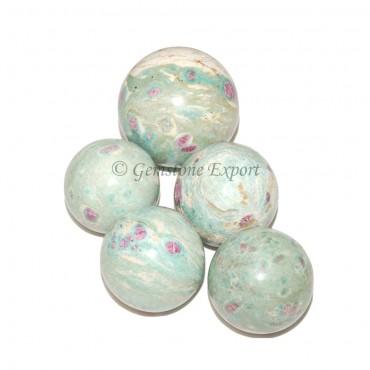 Ruby Zoisite Spheres