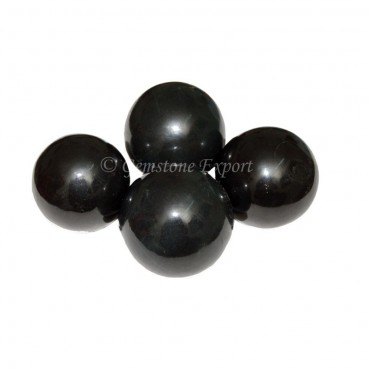 Black Agate Spheres