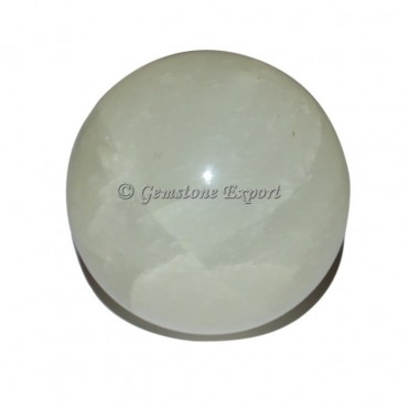 White Selenite Ball