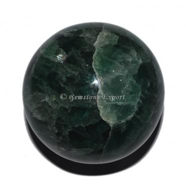 Dark Green Fluorite Ball