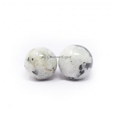 Rainbow Moonstone Spheres