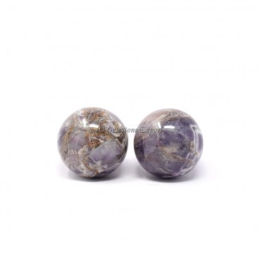 Chevron Amethyst Spheres