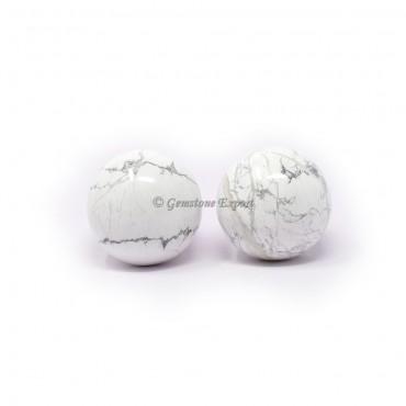White Howlite Spheres