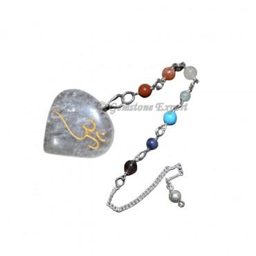 Crystals Quartz Om Sun Catcher Pendulums