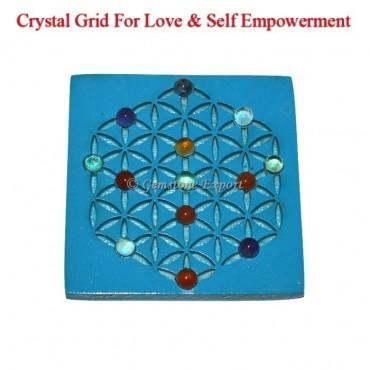 Seven Chakra Stones Grid Stand