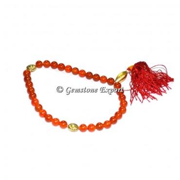 Carnellian 33 Beads Tasbih