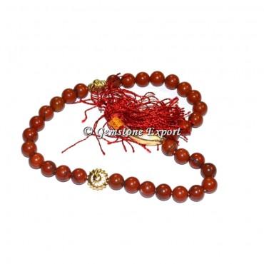 Red Japer 33 Beads Tasbih
