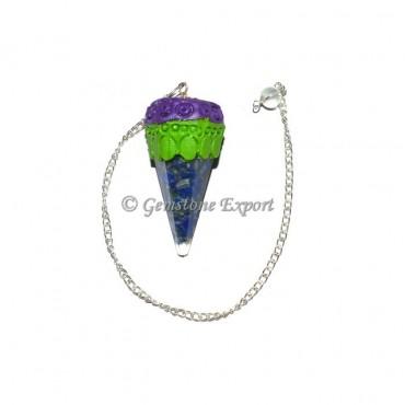 Sodalite Orgone Tibetan Pendulums