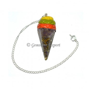 Amethyst Orgone Pendulums