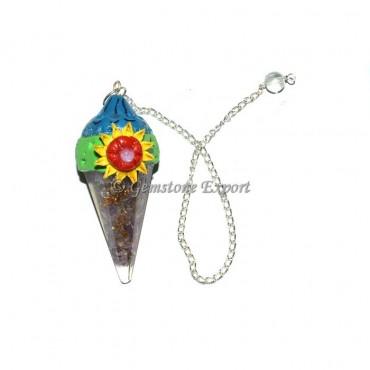 Amethyst Orgone Sun Tibetan Pendulums
