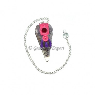 Amethyst With Garnet Tibetan Pendulums