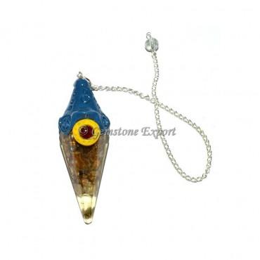 Garnet And Yellow Jasper Tibetan Pendulums