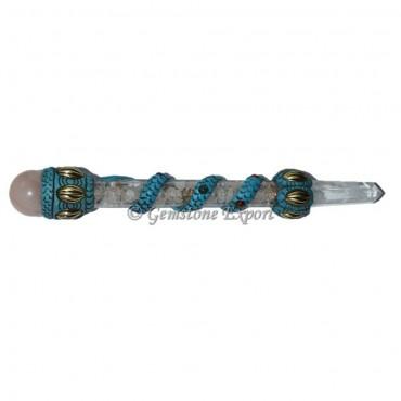 Crystal Quartz Orgone Tibetan Healing Wand
