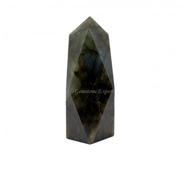 Labradorite Faceted Tower