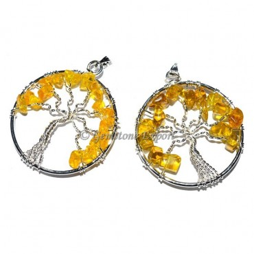 Citrine Tree of life Pendants
