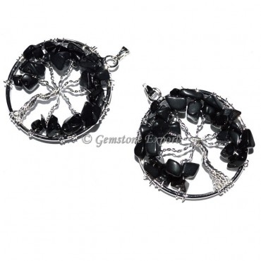 Black Obsidian Tree of life Pendants
