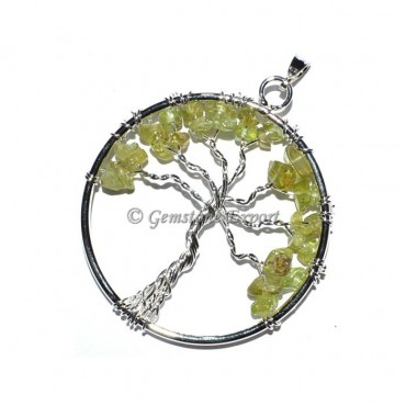 Peridot Tree of life Pendants