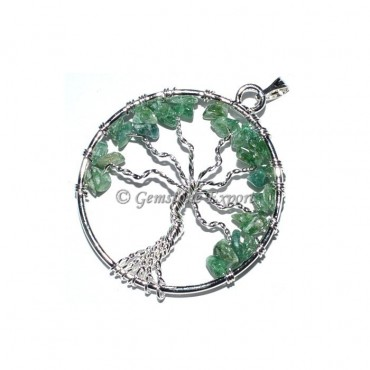 Green Jade Tree of life Pendants