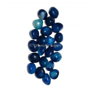 Blue Onyx Tumbled Stones