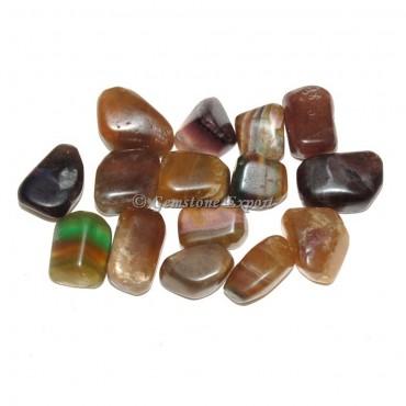 Multi Fluorite Tumbled Stones