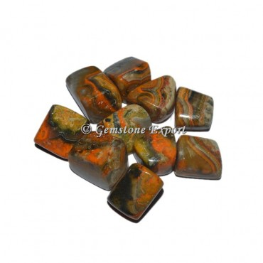 Bumble bee Jasper Agate Tumbled