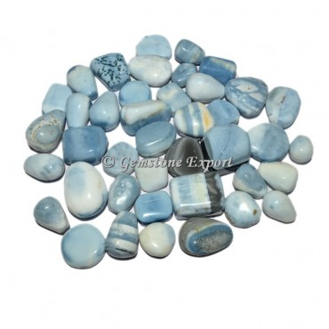Blue Opal Orginal Agate Tumbled Stones