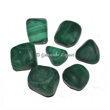 Genuine Malachite Tumbled Stones