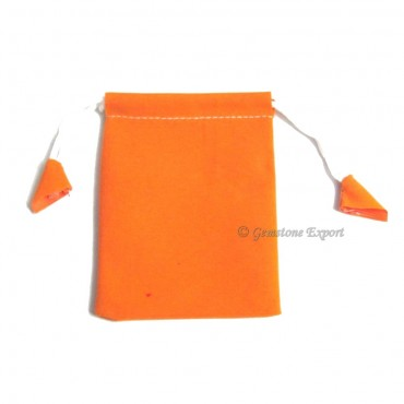 Orange Velvet Gift Bag.