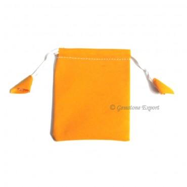 Light Orange Velvet Gift Bag.