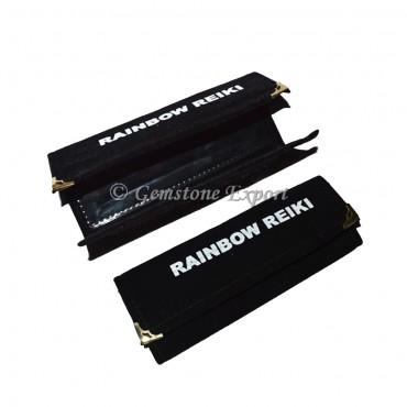Black Agate Velvet Bag for Rainbow Reiki