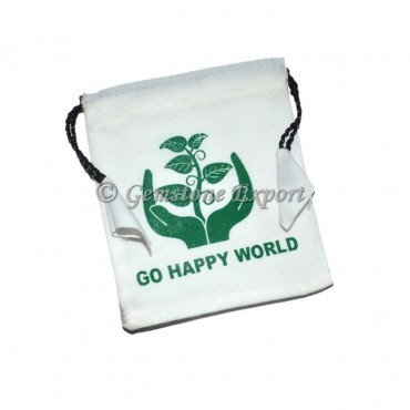 White Pouch with Printed
