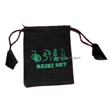 Black Pouch with Reiki Symbol Color