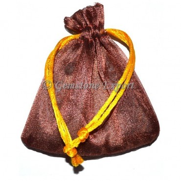 Brown Gold Gift Pouch