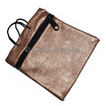 Brown Shining Pouch with chain