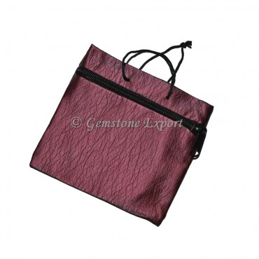 Maroon Pouch With Chain