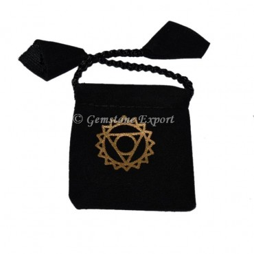 Throat Chakra Printed Pouch