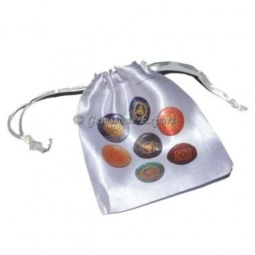 Seven Chakra Disc Printed Pouch