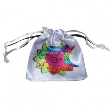 Om Chakra Design Printed Pouch